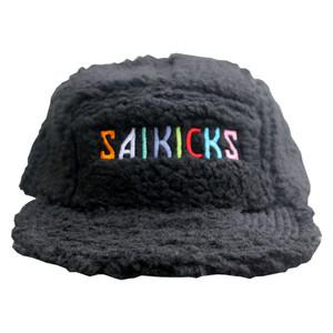 SAIKICKS EMB BOA JOCKEY CAP PORT OKINAWA サイキック 刺繍 ロゴ  ボア ジョッキー キャップ ブラック