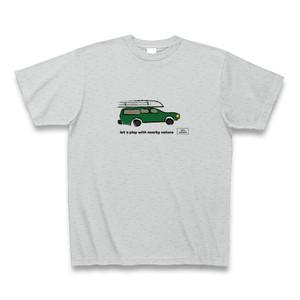 カートップTシャツ【グレー】