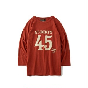 """AT-DIRTY(アットダーティー) / """"45 3/4 SLEEVE TEE"""" (RED)"""