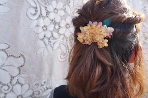 八重紫陽花のグラデーションバレッタ