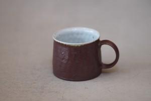 村上躍 鉄赤釉マグカップ A