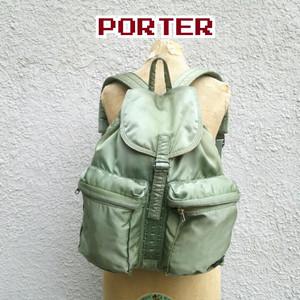 ポーターPORTER/吉田かばん/タンカー/MA-1/ナイロン/リュック/セージグリーン/カーキ/