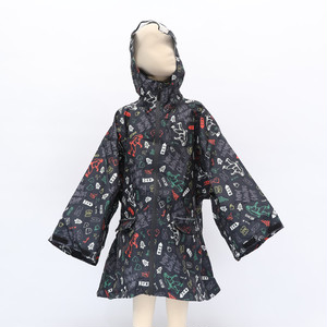 [KiU×NAC]SLEEVE RAIN PONCHO FOR KIDS / BLACK