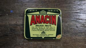 ANACIN ティン缶 vintage
