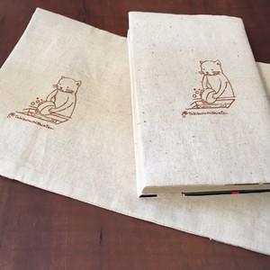 【ブックカバー】少年コミック・少年文庫・ペーパーバックサイズ/柄:クスコ(鍋洗い猫)