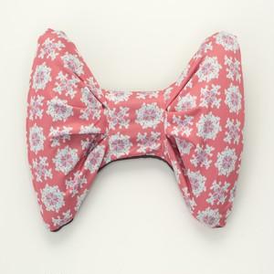 リボン型ネックピロー ピンク