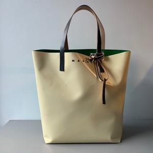MARNI PVC SHOPPER BAG CREAM/GREEN
