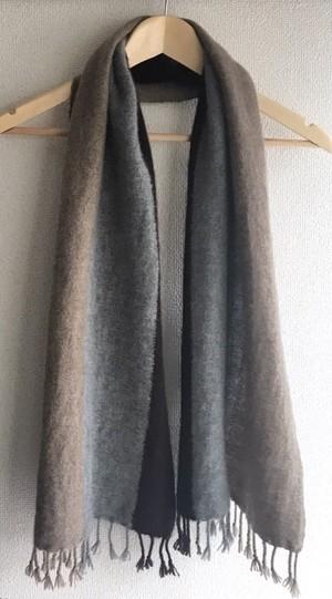 【受注制作】手織りカシミヤマフラー handwoven cashmere scarf