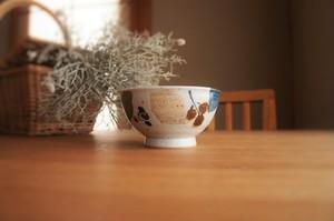 砥部焼/お茶碗/木の葉/森陶房