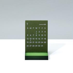 'CLARA' Desk Calendar 2020 Olive
