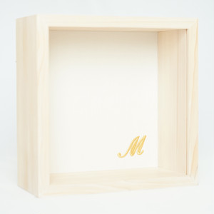 kobaco - White linen / 筆記体イニシャル刺繍