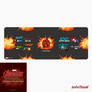 InfoThink マウスパッド MARVEL アベンジャーズ ゲーム用 iMousePad(8bitsFight)