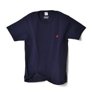 CREW NECK T-SHIRT / RED FIN / NAVY