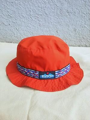 【USA製】カブーKAVU/美品/ナイロン/ストラップ/バケットハット/strap bucket hat/赤/L/