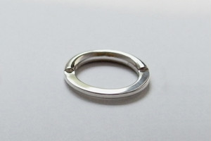 SILVER MENS Two Faced RING