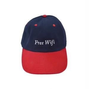 FREE WIFI / 6 PANEL BASEBALL HAT -NAVY-