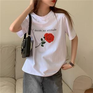 2020SS ローズプリントTシャツ