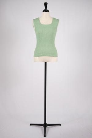 【BELPER】KNIT TANK TOP - green