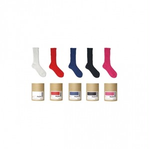 メンズソックス decka de-01 L  Cased heavy weight plain socks【限定カラー】