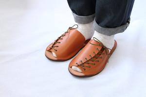【受注生産】Leather Slippers ( camel )