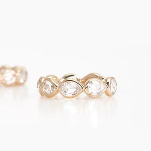 Rosecut diamond Ear cuff / Pair shape