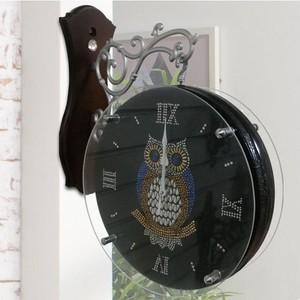 ふくろう 両面 時計 YORB 壁付け