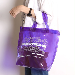 14579700【FRUIT OF THE LOOM/フルーツオブザルーム】COLOR CLEAR TOTE BAG/PVCクリアトートバッグ