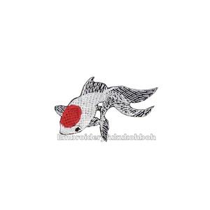 琉金 金魚 刺繍ワッペン