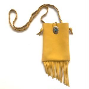 Fringe Shoulder Bag < mustard >