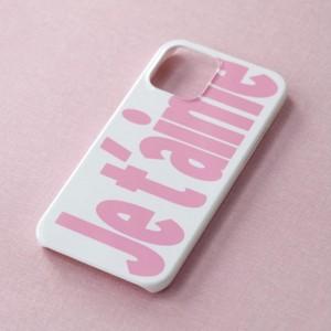【t.e.a】Je t'aime  Case / iphone スマホ ケース カバー ジュテーム フランス語 ハード 韓国雑貨