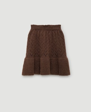 THE ANIMALS OBSERVATORY / LYNX SKIRT[BROWN]