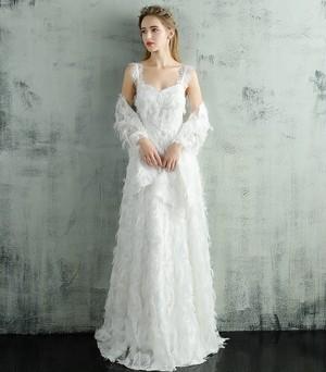 ふわふわレーシー*ウェディングドレス