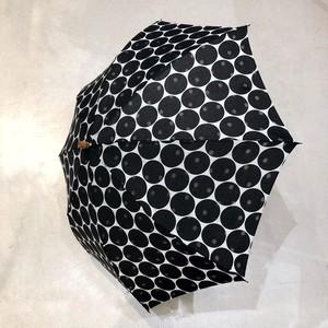 SUR MER (シュールメール) 日本製 折り畳み日傘 DOT 透かし水玉  -BLACK-
