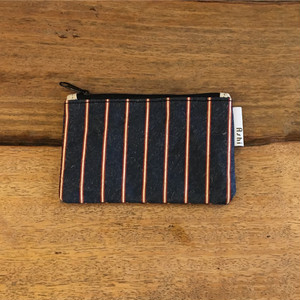 Ashi|亜紙 Flat Pouch S*Stripe Cambodia Flag Color 紙ポーチ ストライプ