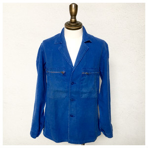 1970s French Work Jacket Cotton Twill 3Button B_330