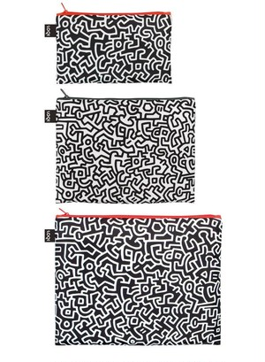LOQI  Museum Zip Pockets - KEITH HARING