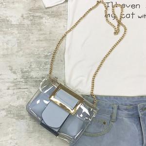 【特集】小さめ無地PU+プラスチックキュートショルダーバッグ