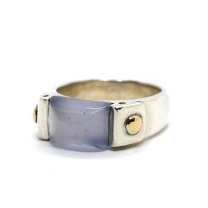 Hermès Vintage Sterling Silver & 18k Gold Stone Ring