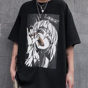 【トップス】暗黒ストリート系半袖Tシャツ28265406