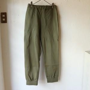 【prit/プリット】40/1強撚ポンチ裾ゴムパンツ P91125