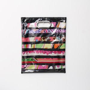 【一点もの】No.331  スカーフで作ったPVCクラッチバッグ