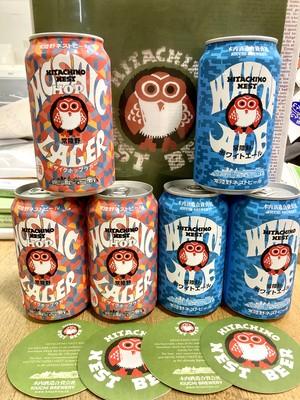 Wおまけ付き♪茨城県【木内酒造】☆『常陸野ネストビール350ml缶2種×3本ずつの6本セット』