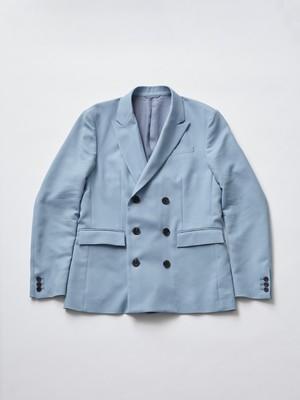 Allege W Peaked Lapel Jacket Sax AL20S-JK01