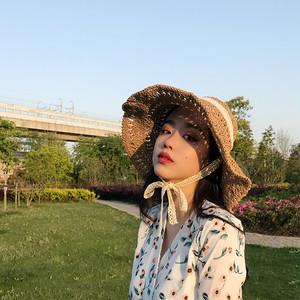 【ACC】エレガント超人気合わせやすいリボン付け日焼け止め帽子20054956
