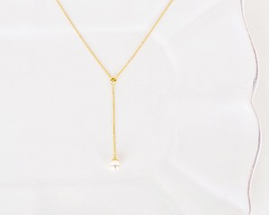 Slim pearl drop necklace