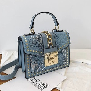 snake pattern color bag