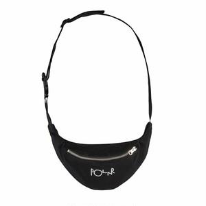 POLAR SKATE CO / SCRIPT LOGO HIP BAG -BLACK-