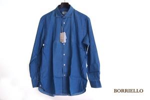 【9月末限定価格】ボリエッロ|BORRIELLO|セミワイドカラー長袖シャツ|41