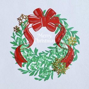 切り絵キット2019.06「クリスマスリース」