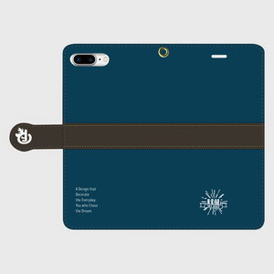 【Logo】iPhone Plusケース(手帳型)